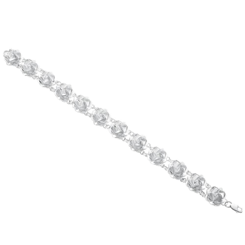 Silver Bracelet Sueño de rosas' white