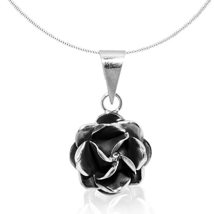 """Pendant """"Rosa"""" dark silver"""