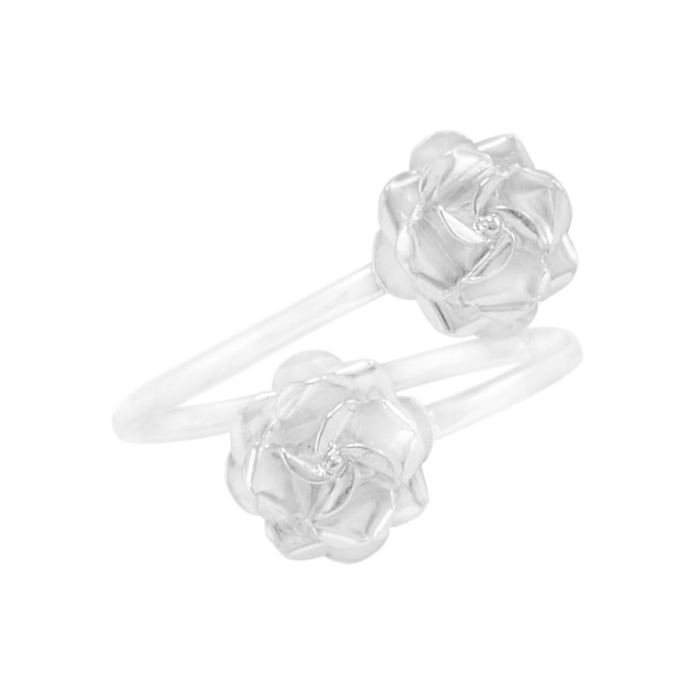 "Ring ""Dos Rositas mini"" light silver"
