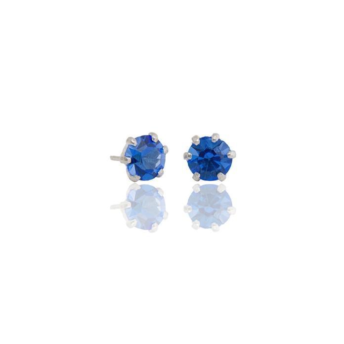 "Ear studs ""Semilla"" blue"