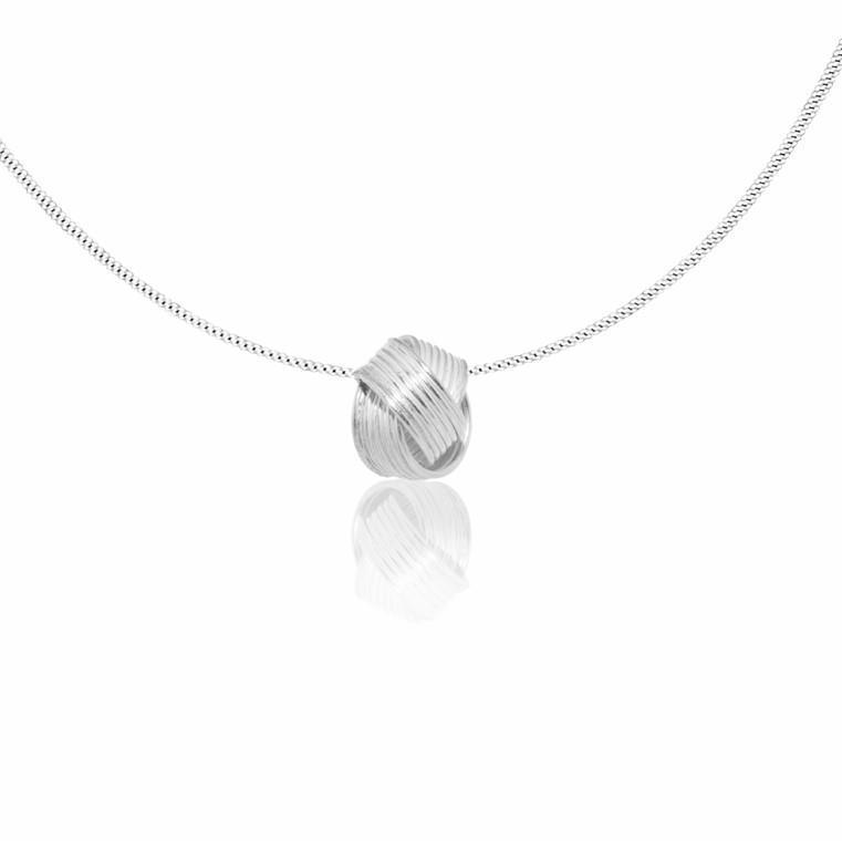 """Silver Pendant """"Nudito"""" knot"""