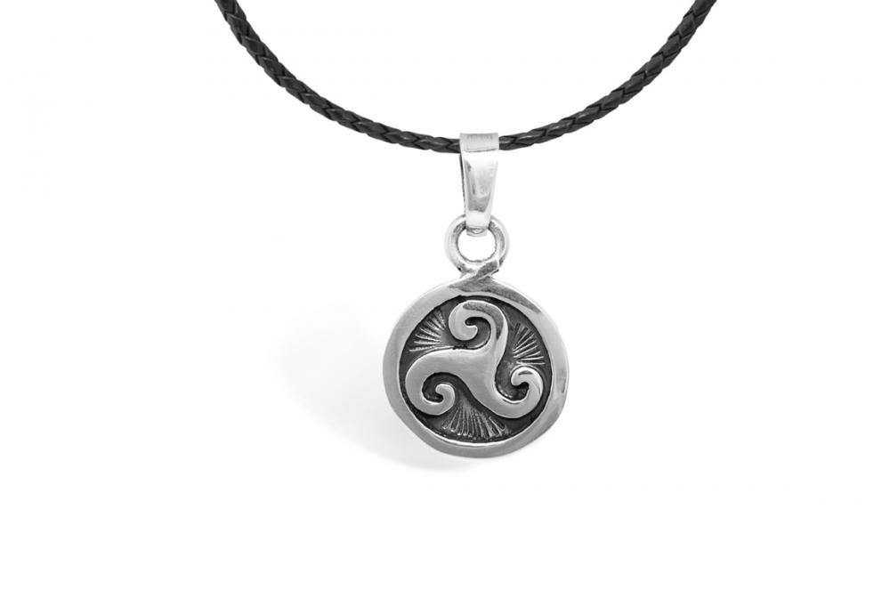 "Silver Pendant ""Olin"" aztec calendar"