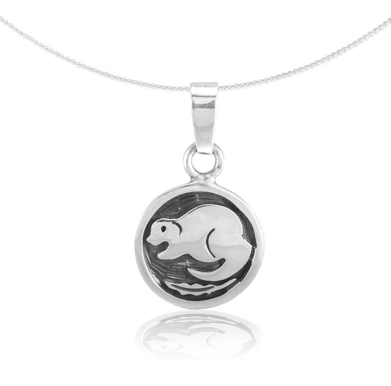 "Silver Pendant ""Castor"" (20.04. – 20.05.) taurus"