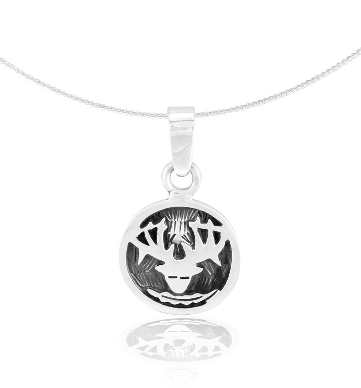 "Silver Pendant ""Ciervo"" (21.05. – 20.06.) gemini"