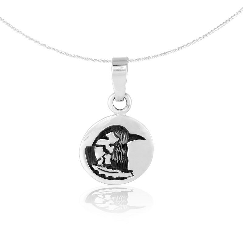 """Silver Pendant """"Cuervo"""" (23.09. – 22.10.) libra"""