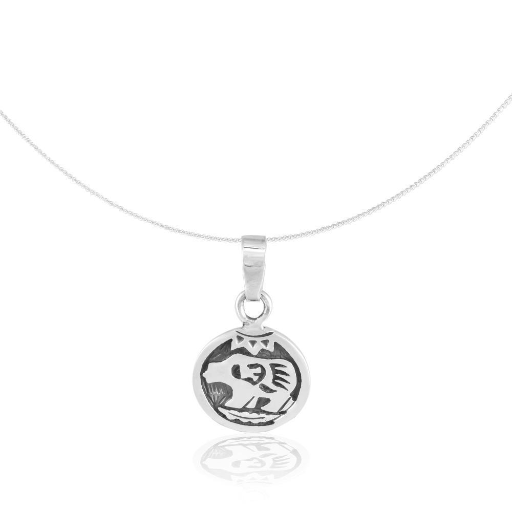"""Silver Pendant """"Oso Pardo"""" (23.08. – 22.09.) virgo"""