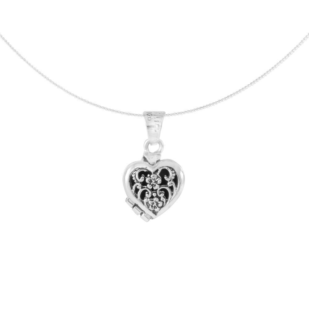 "Silver Amulet ""Corazón especial"" mini heart foldable"
