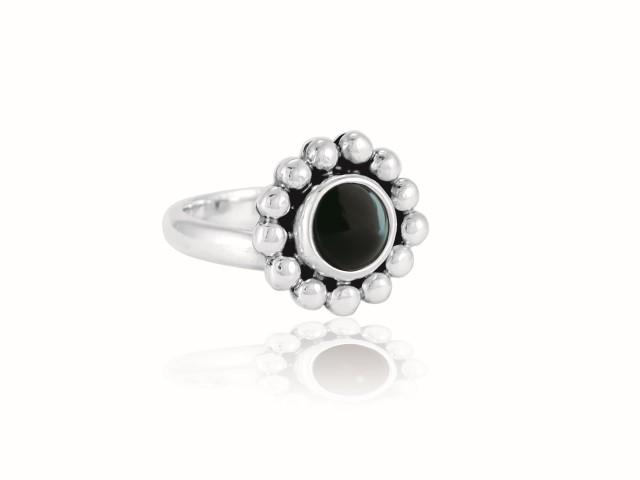 """Ring """"Florecita"""" Obsidiana"""