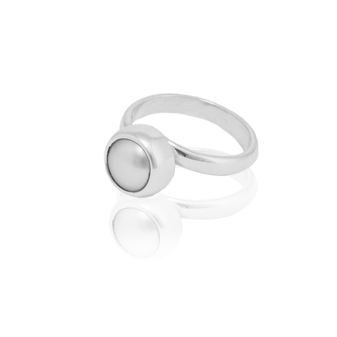 "Ring ""Perla-plata"""