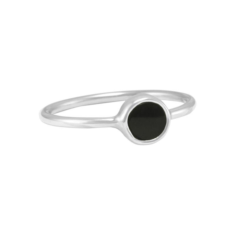 """Ring """"Redondo Obsidiana"""" #7"""