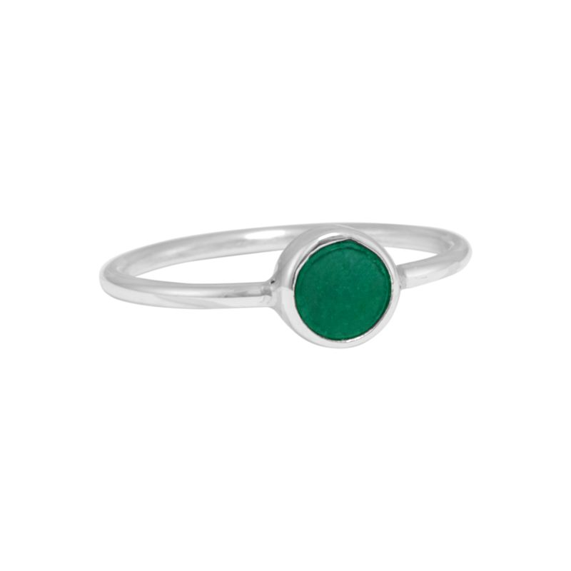 "Ring ""Redondo Verde Venturina"" #6.5"
