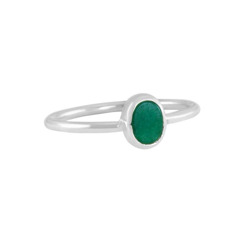 "Ring ""Ovalado Verde Venturina""#6"