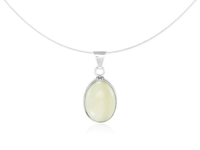 "Silver Pendant ""Madreperla"" creamy white"