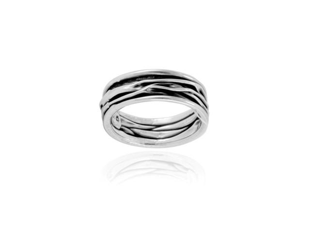 """Ring """"Corrugado"""" schmal"""