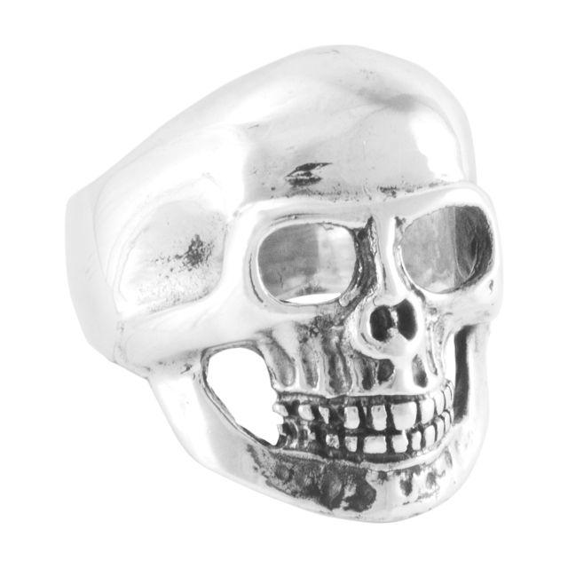 "Ring ""Cráneo liso"" #13,5"