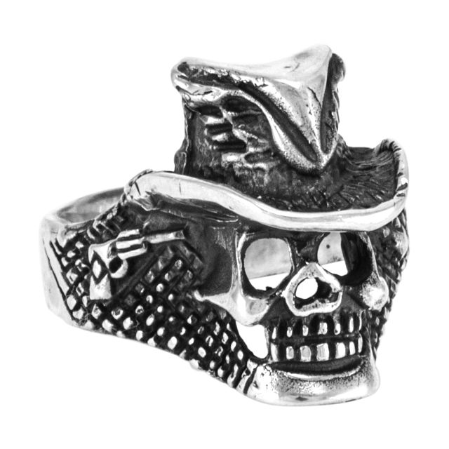 "Ring ""Cráneo con chistera"" #12"
