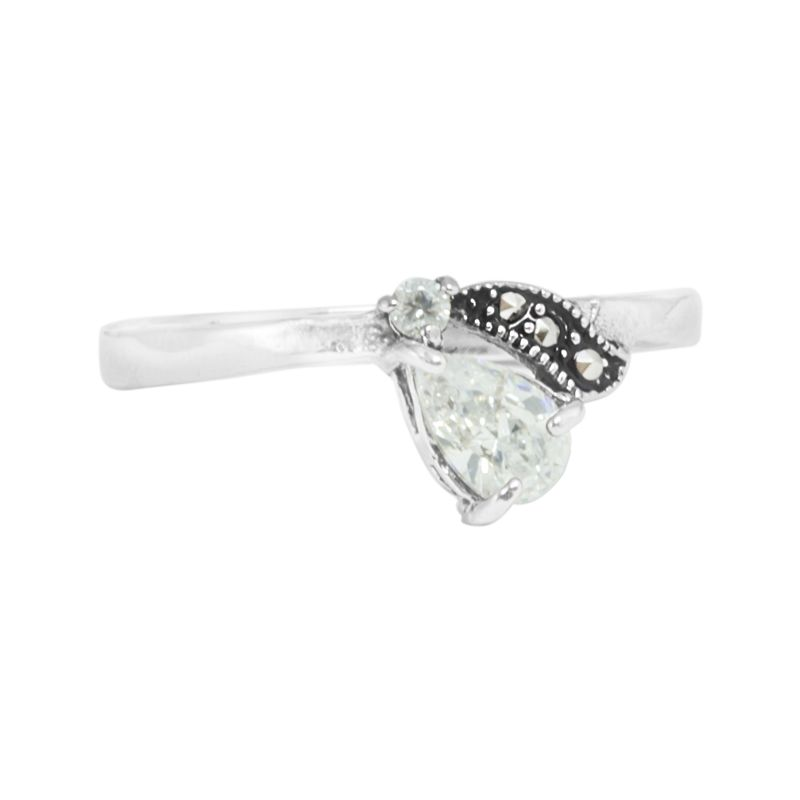 "Ring ""Gotita de cristal"" #8"