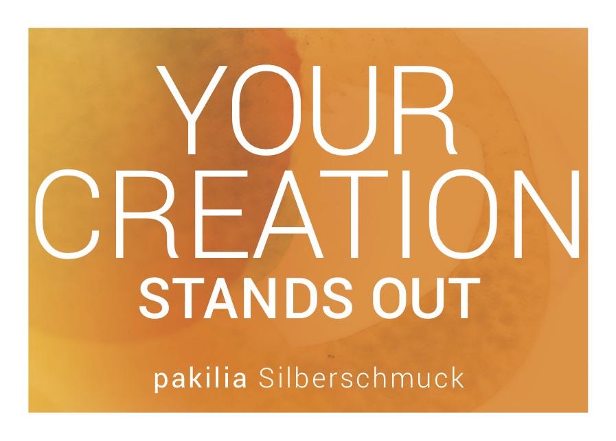 "Info-Postkarte ""Your creation"""
