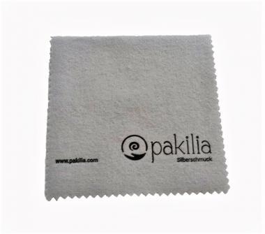 Silberputztuch mit pakilia Logo