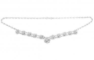 """Necklace """"Sueño de rosas"""" silver"""
