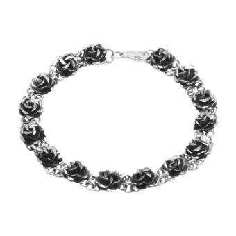 """Bracelet """"Rosita mini"""" oxidised silver"""