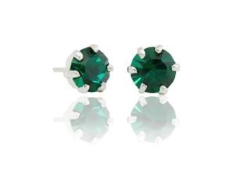 "Ear studs ""Semilla"" green"