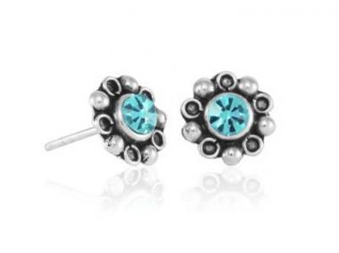 """Earring """"Flor margarita"""" turquoise"""