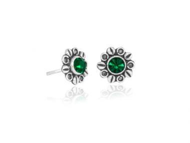 "Earring ""Dalia"" dark green"