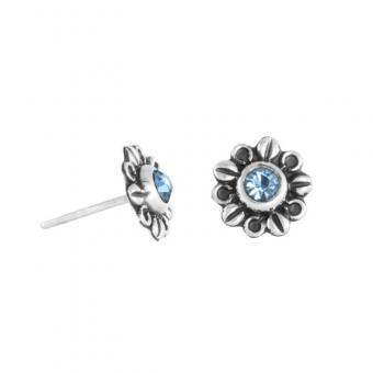 "Ear studs ""Dalia"" light blue"