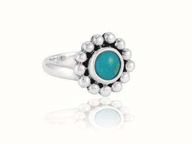 """Ring """"Florecita"""" Turquesa"""