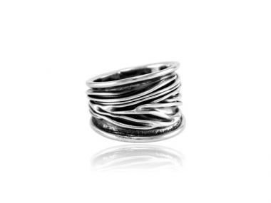 """Ring """"Corrugado"""" breit"""