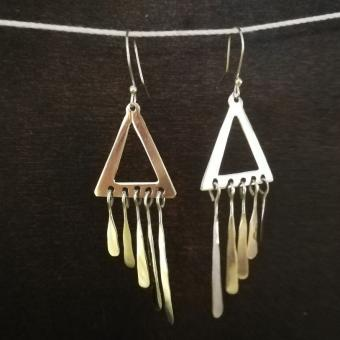 "Earrings ""Triangulo con flecos"""