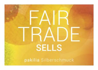 "Info-Postkarte ""Fair trade sells"""