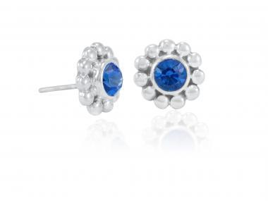 """Ear studs """"Girasol"""" blue"""