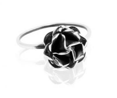 "Ring ""Rosita"" oxidised silver"