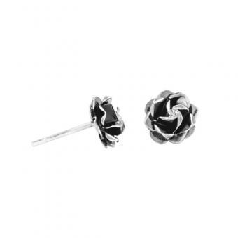 """Ear studs """"Rosita mini"""" oxidised silver"""