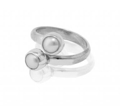 "Ring ""Dos Perlas"""