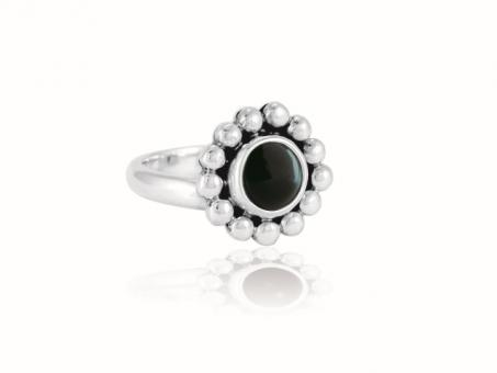 "Ring ""Florecita"" Obsidiana"