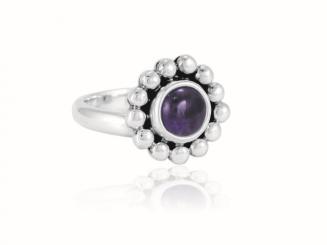 """Ring """"Florecita"""" Amatista"""