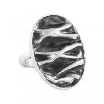 """Ring """"Corrugado"""" oval"""